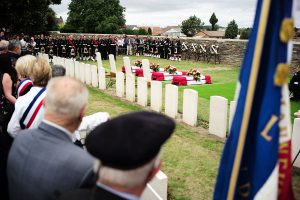 Four Canadian First World War soldiers buried in France.