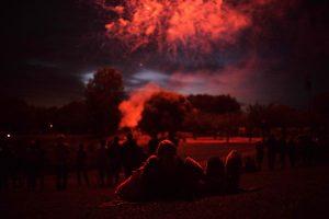 Feux d'artifices du 14 Juillet à Guesnain près de Douai, Juillet 2016.